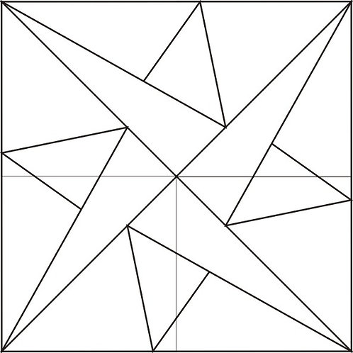 "Woven Star Block 6"" 6/pkg"