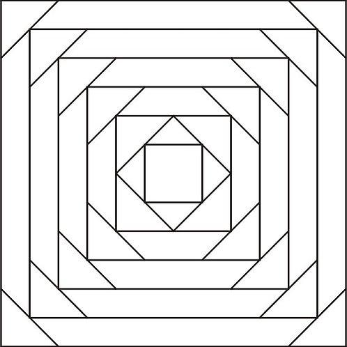 "Pineapple Block Design #2 - 9"" 6/pkg"