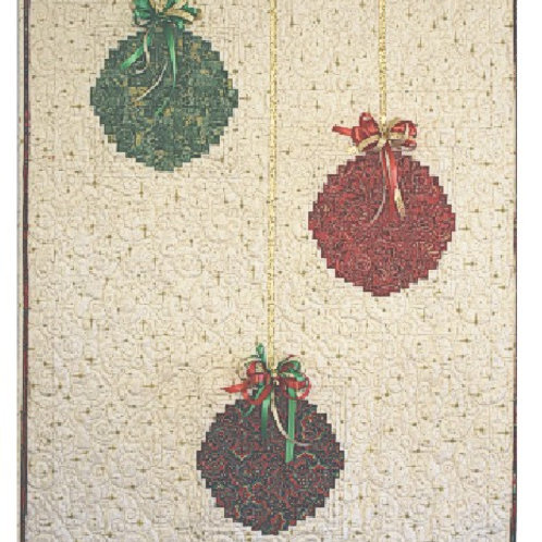 """Christmas Ornament Wallhanging 26"""" x 35"""""""