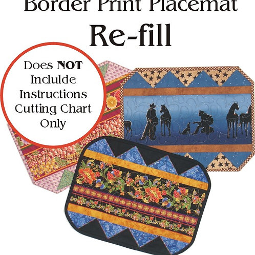 Border Print Placemat Foundations RE-FILL (6)