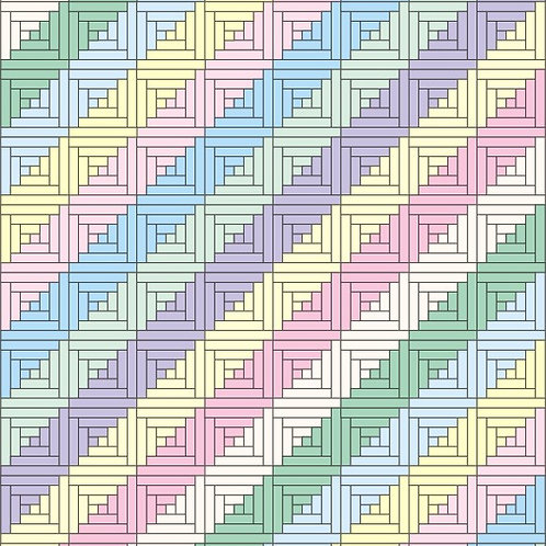 Jelly Roll Baby Quilt Pattern