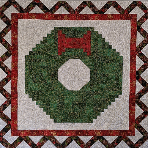 "Christmas Wreath Wall Hanging Pattern 36"" x 36"""