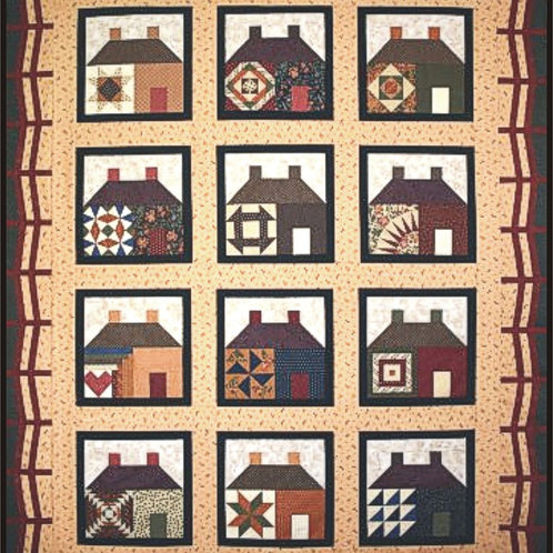 Houses In The Neighborhood Fabric Kit (Pattern included)
