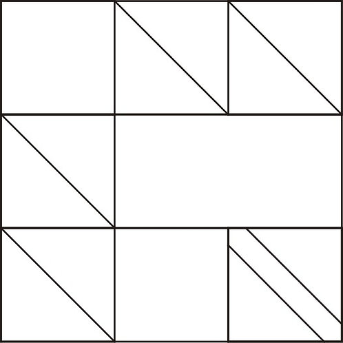 """Maple Leaf Blocks 6"""" 6/pkg"""