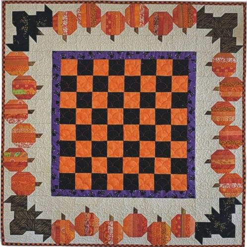 Pumpkins & Bats Table Topper Pattern