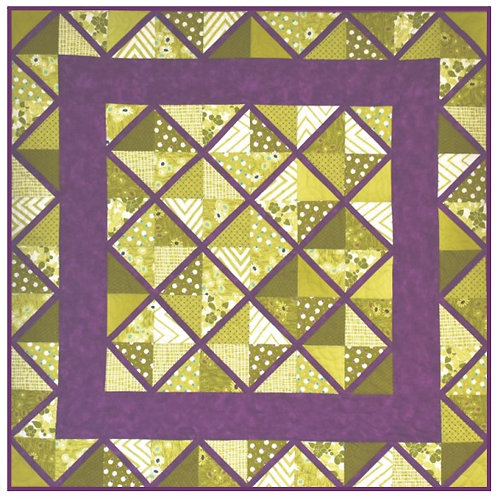 Lattice Table Topper Fabric Kit with Pattern