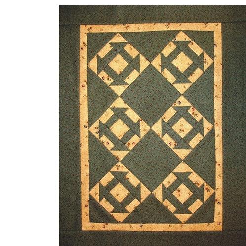 Churn Dash Mini Fabric Kit w/pattern