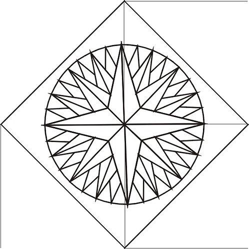 "Mariner's Compass 16"" block 4/pkg"