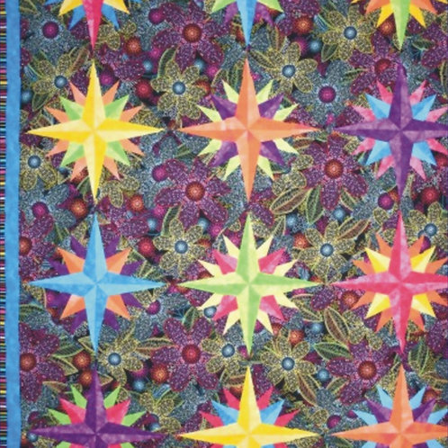 Jeremy's Star Flower Power Quilt Pattern