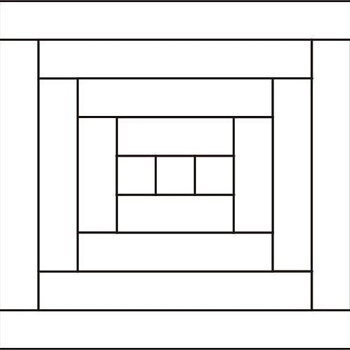 "Courthouse Steps Block 12"" 6/pkg"