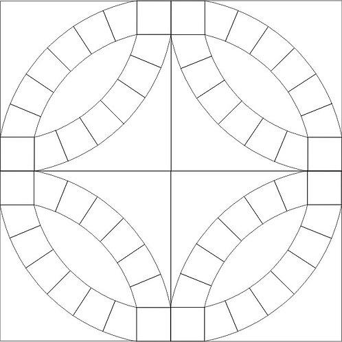 """Double Wedding Ring Blocks 3 - 18"""" blocks"""