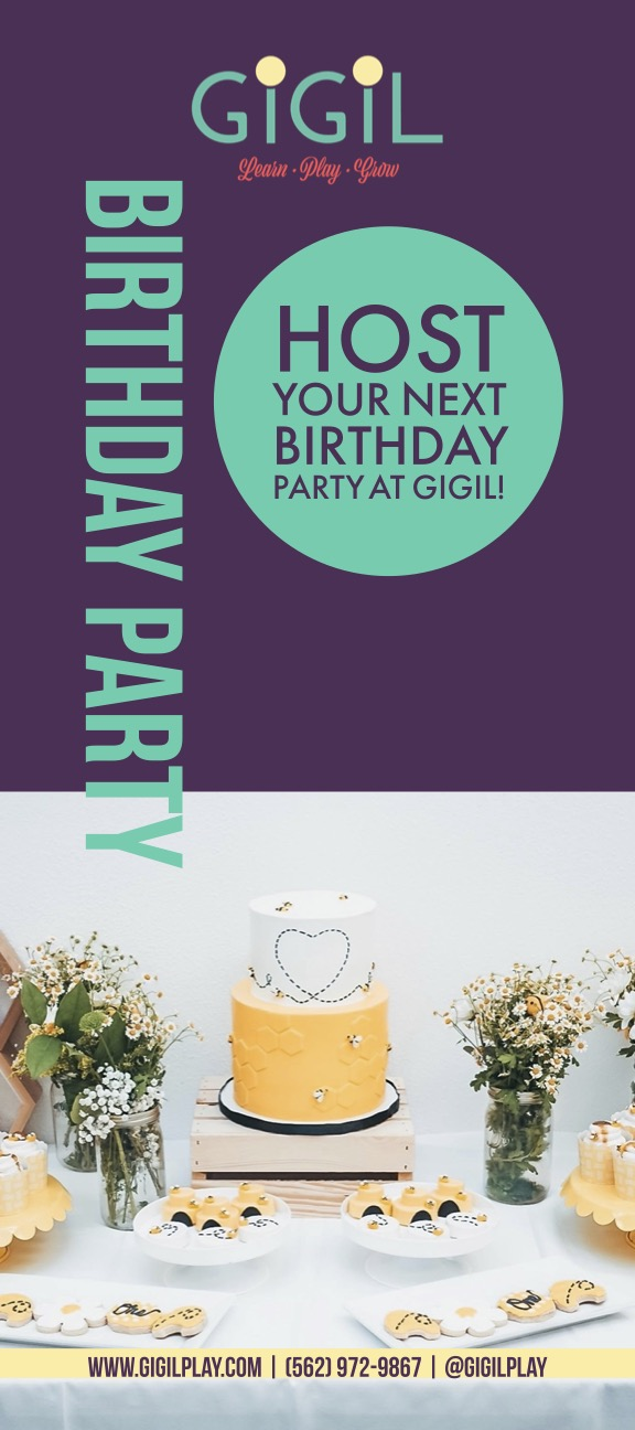 Birthday Party Rack Card Front