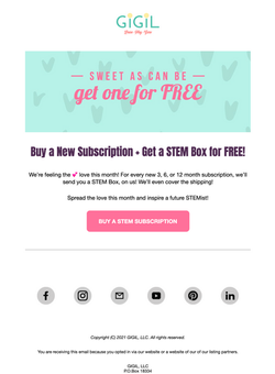 E-mail Copy + Design
