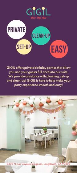 Birthday Party Rack Card BACK