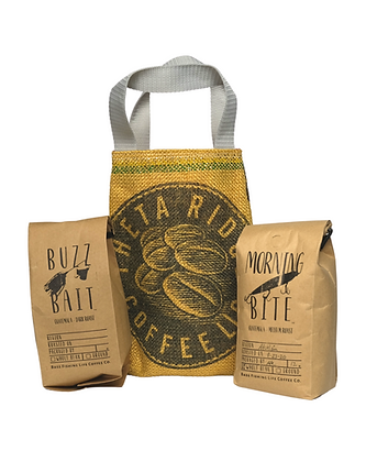 Coffee and Burlap Tote Gift Box