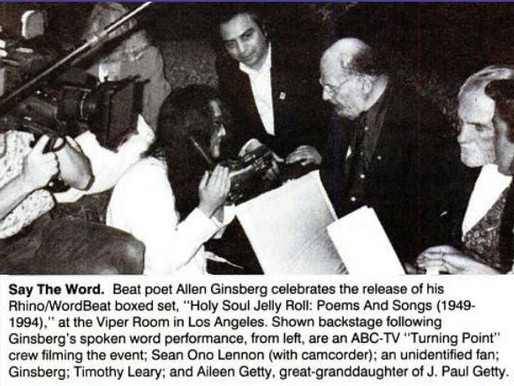 Oct. 1994 Allen Ginsberg & Timothy Leary at the Viper Room