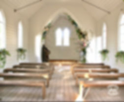 Photoshop digital concept and design, mockup of wedding ceremony in country church