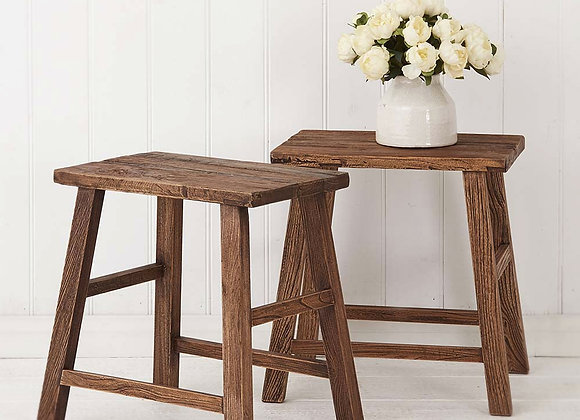 RUSTIC ELM SIDE TABLES