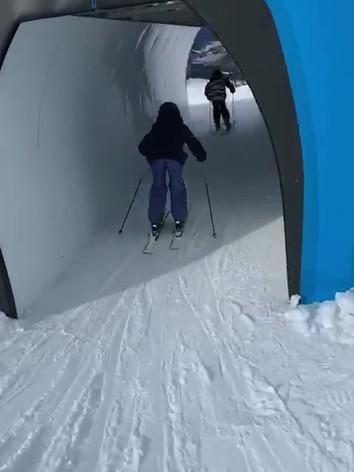 Pietro and friend, Dolomites, February 2020