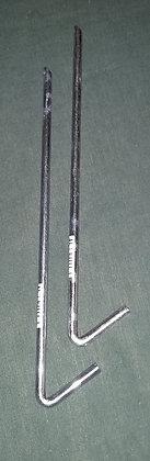 2 X ZINC PLATED STEEL TENT PEGS 6.3MM x 225MM