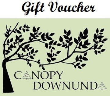GIFT VOUCHERS - for Canopy Downunda store $25, $50 or $100 vouchers available