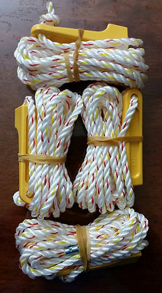 4 X 6MM ROPES WITH GUY ROPE RUNNERS 3M LONG