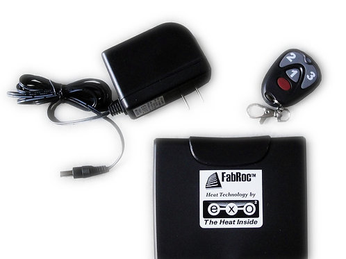 Key Fob, 12V rechargeable battery, and charger.