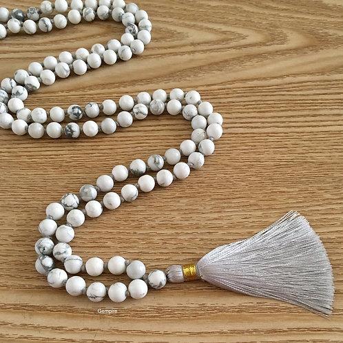 108 Mala Beads Howlite Stone