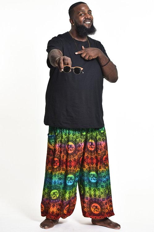 Unisex Plus Size Harem Pants Rainbow