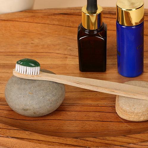 Organic Wood Toothbrush - White