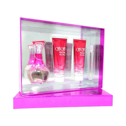 SET CAN CAN BURLESQUE 4PZS 100ML EDP SPRAY/ SHOWER GEL 90ML/ BODY LOTION 90ML/ 1