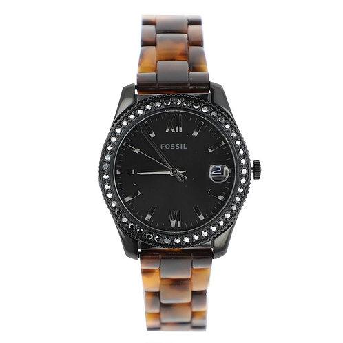 Reloj Fossil ES4638 Café Negro Dama