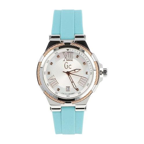 Reloj Guess Y34003L1 Verde Agua Plata Dama