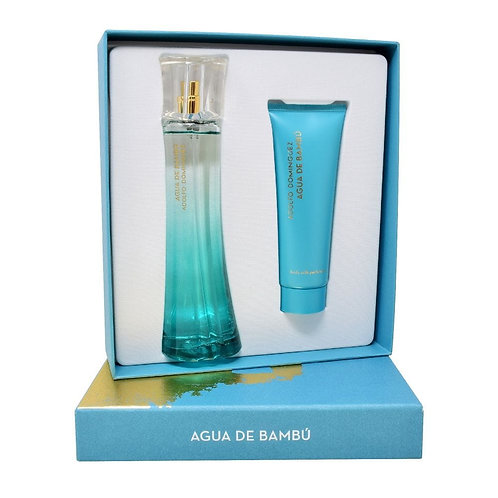 SET AGUA DE BAMBU 2PZS 100ML EDT SPRAY/ CREMA CORPORAL PERFUMADA 75ML
