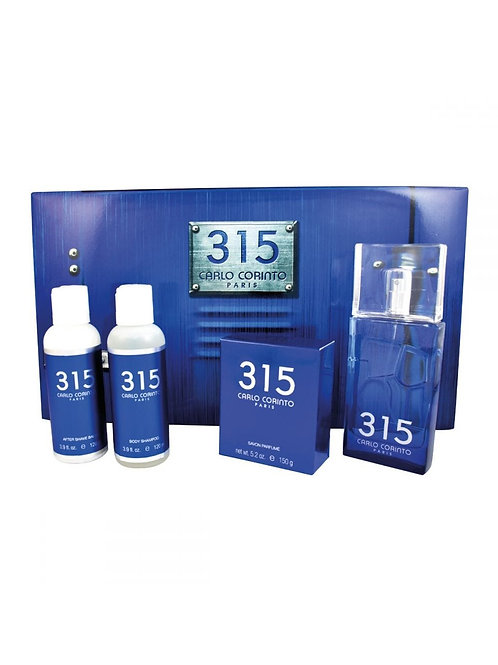 SET CARLO CORINTO 315 4PZS 100ML EDT SPRAY/ JABON 150G/ AFTER SHAVE 120ML/ SHOWE