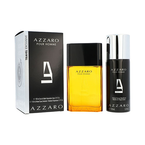SET AZZARO POUR HOMME 2PZS 100ML EDT SPRAY/ DESODORANTE 150ML SPRAY