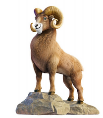 Rocky Railroad Longhorn Sheep Artwork.jp