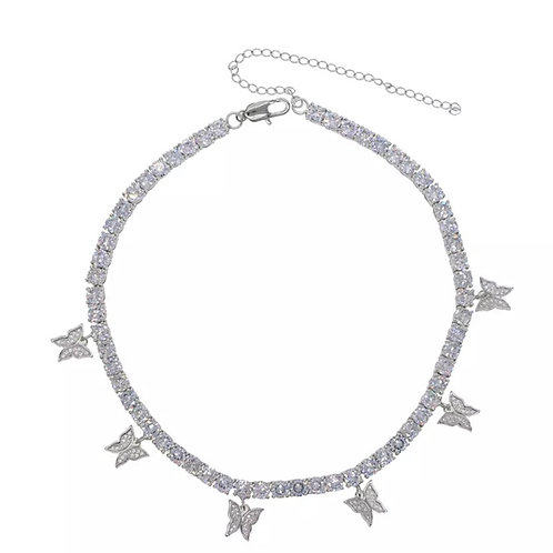 Butterfly Choker Silver