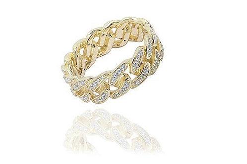Cuban Link Ring Gold