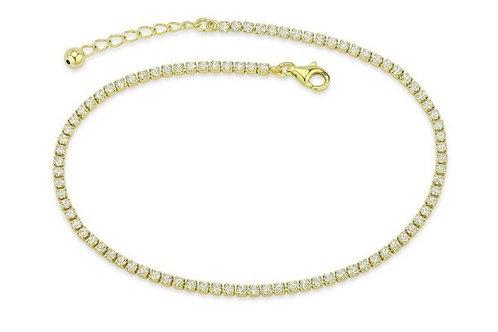 Crystal Anklet Gold