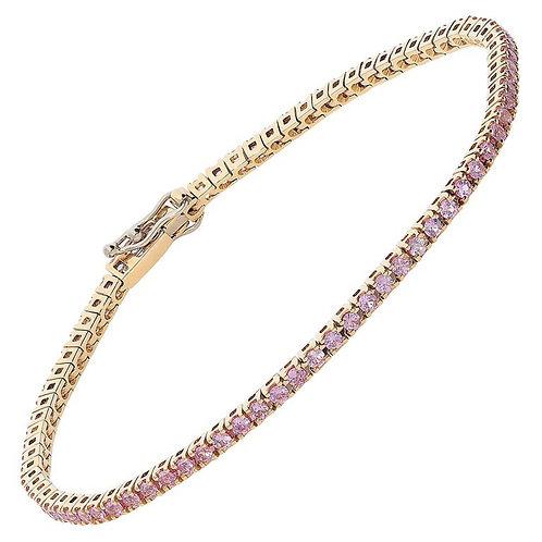 Pink Tennis Bracelet
