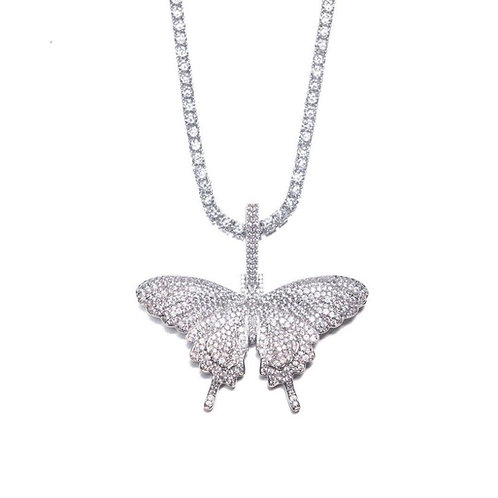 Ice Butterfly Tennis Necklace