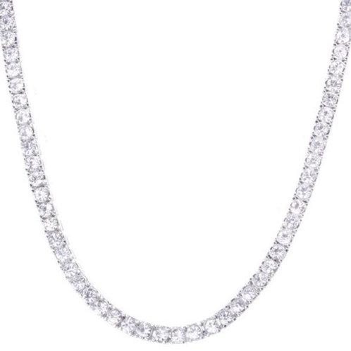 Tennis Necklace Silver