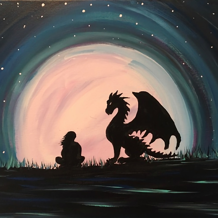 Star Gazing Me & My Dragon Live Zoom  Painting Class