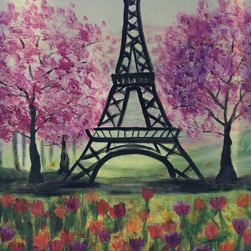 Eiffel Tower in the Springtime - Class one