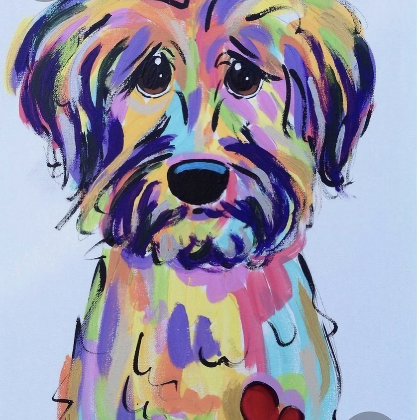 Postponed  Abstract Puppy - Creo Art Studio - White Rock