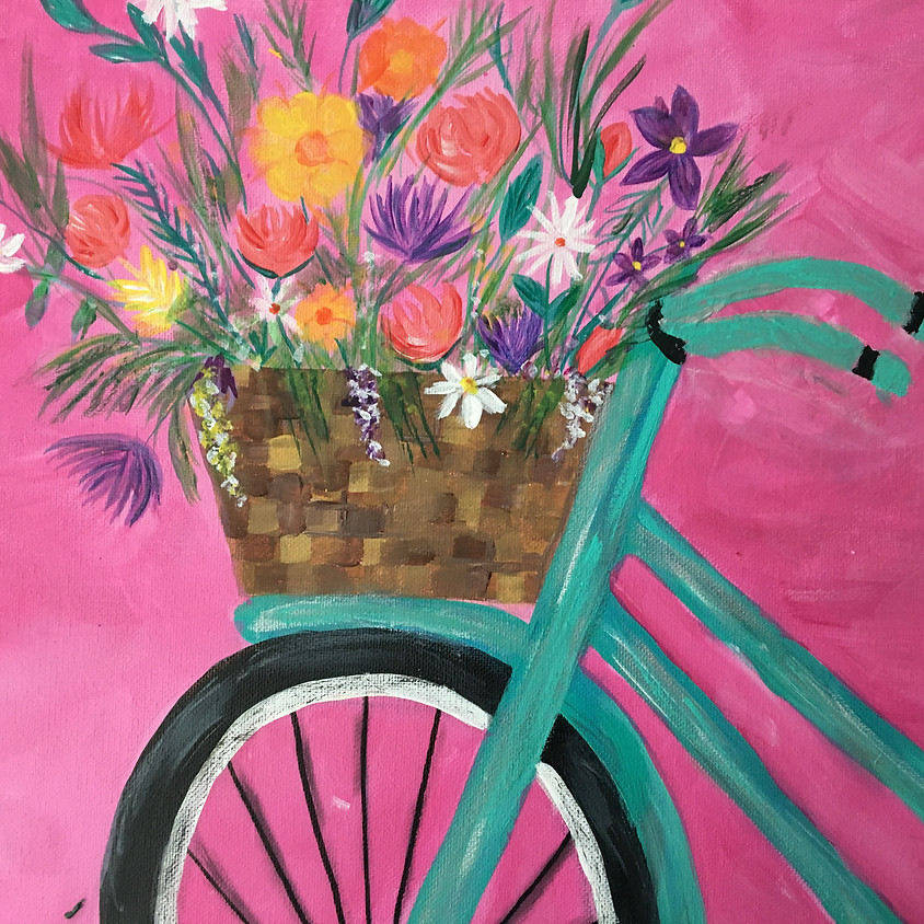 Brick Alley Bistro - Bike & Flowers - You choose which bike and your saying !