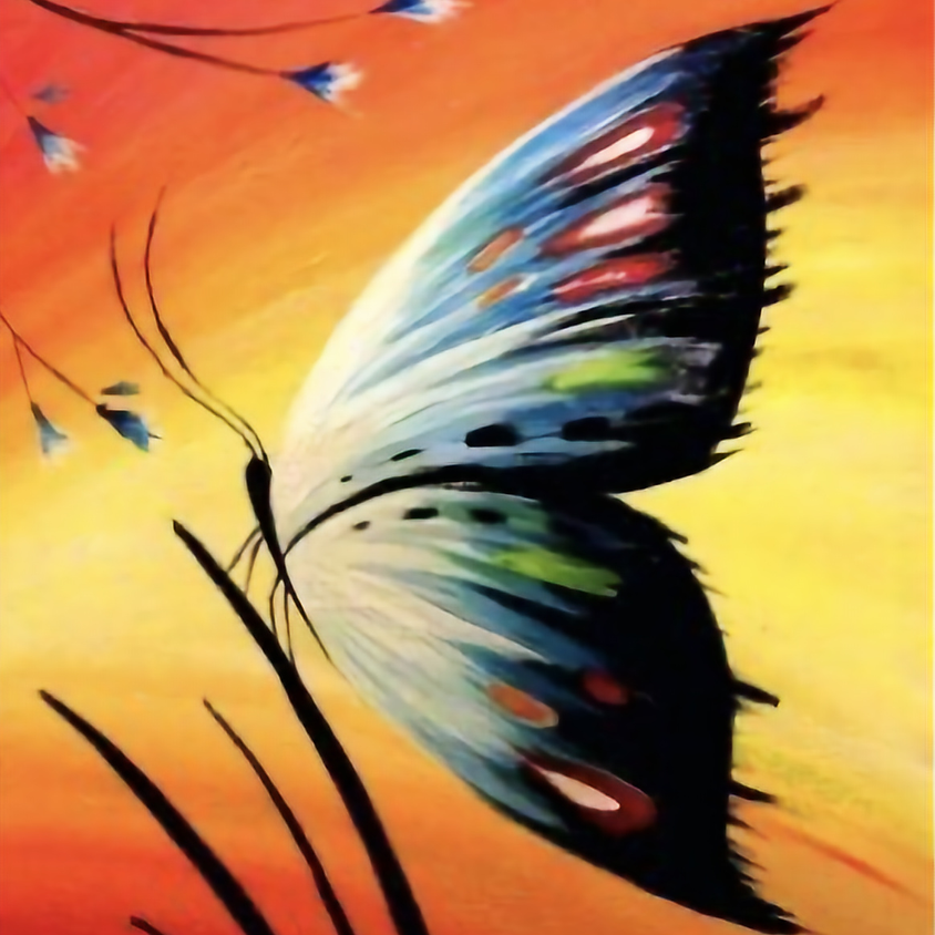 Butterfly  Paint Night Brick Alley Bistro