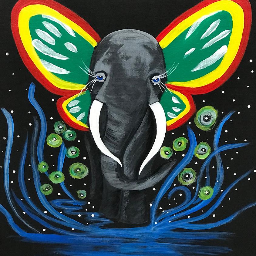 """Elephant ""- Glow in the dark- The Bennett"