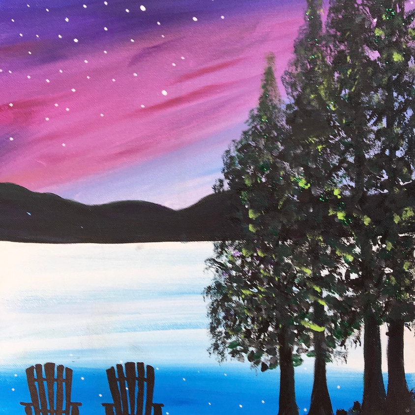 3 Dogs Brewing Paint Night ( tap photo for full image) - Sunset Lawnchairs